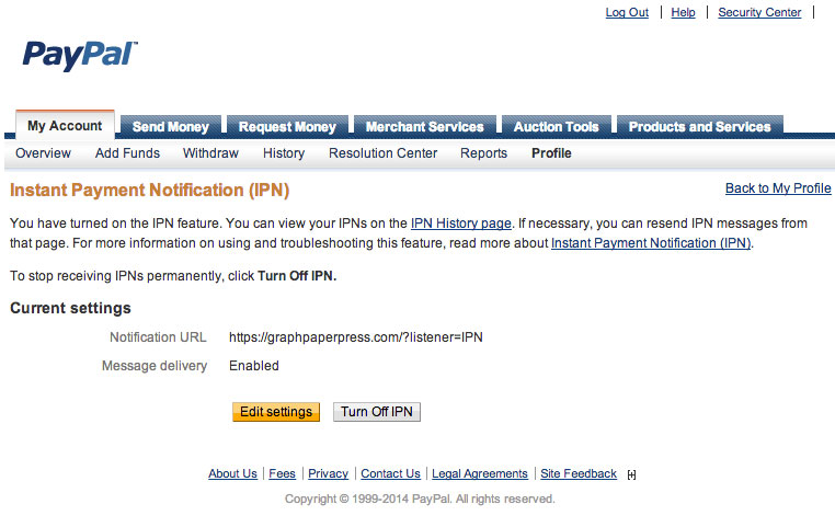 paypal-ipn | Graph Paper Press
