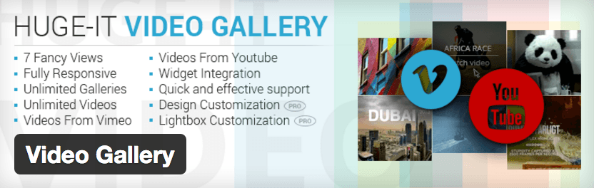 Gallery video slider plugins