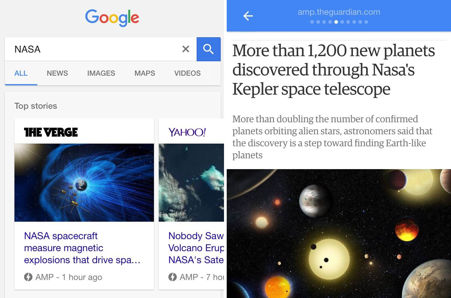 Examples of Accelerated Mobile Pages
