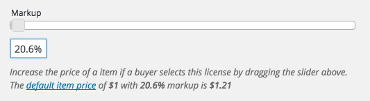 The Sell Media Markup slider.