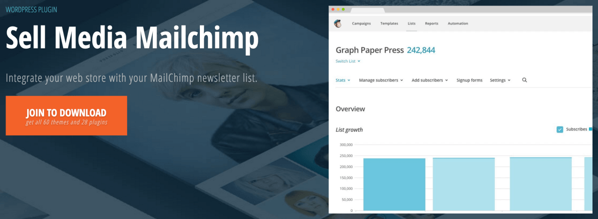 The Sell Media MailChimp extension.