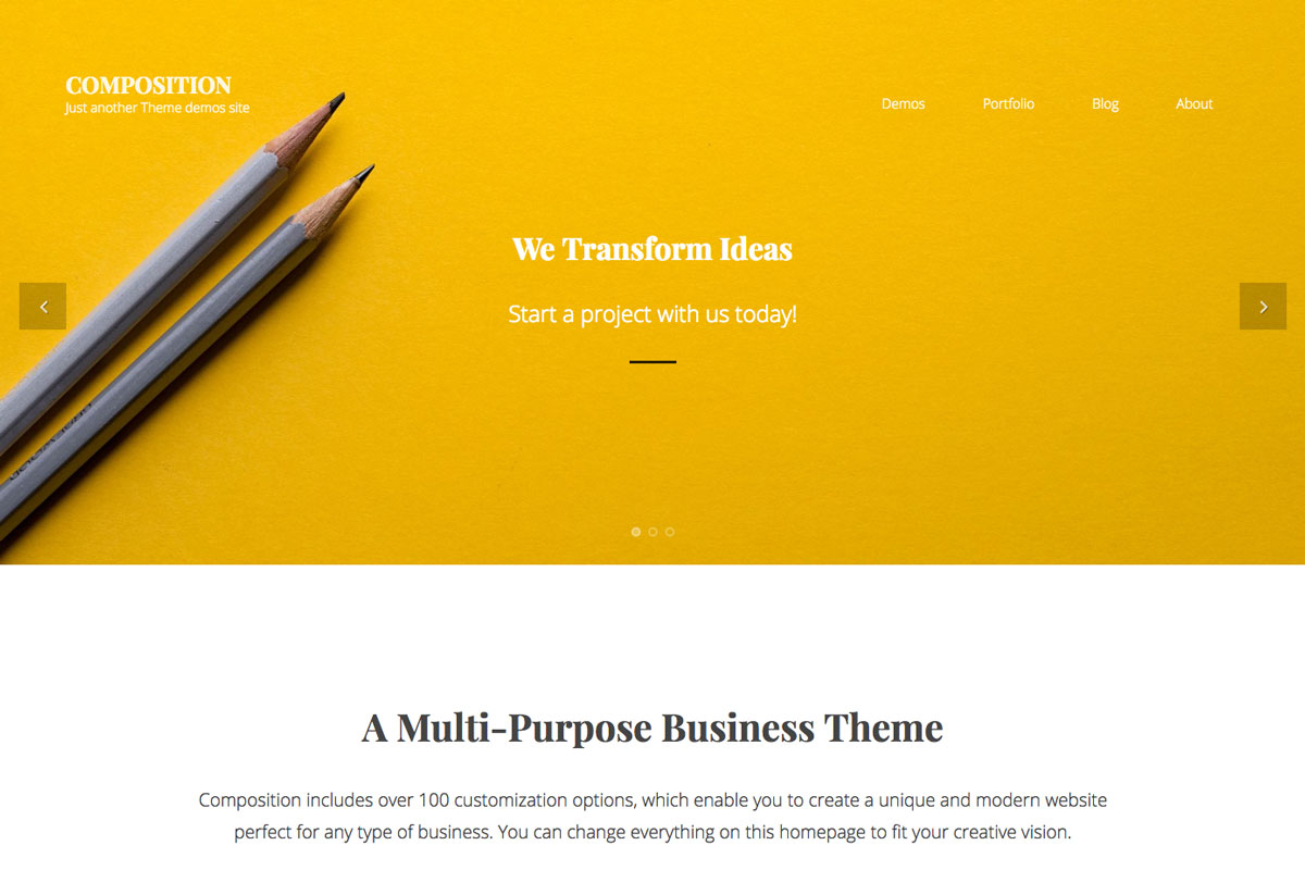 Multipurpose WordPress theme for businesses