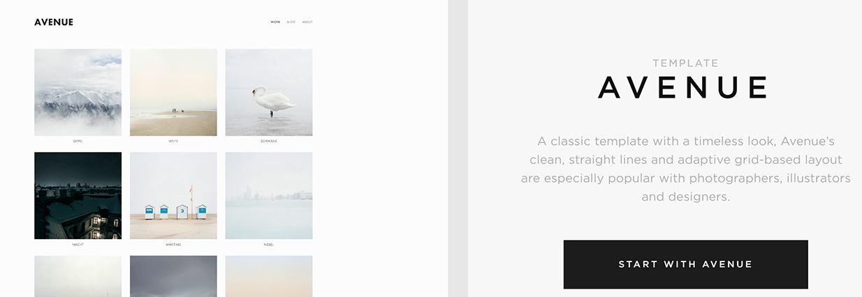 The Squarespace Avenue template.