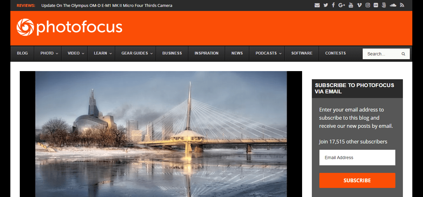 Photofocus homepage