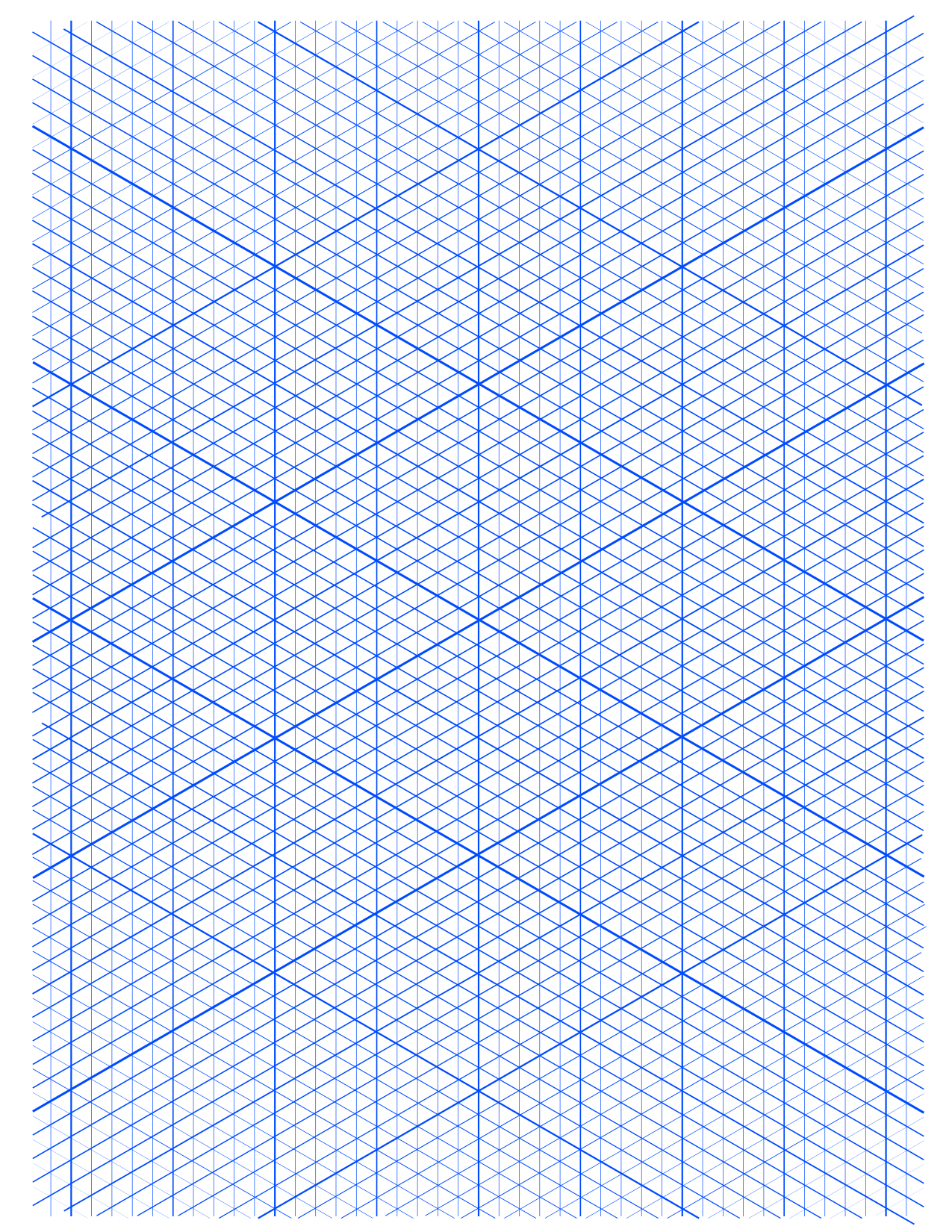 4 Free Printable Isometric Graph Paper Template