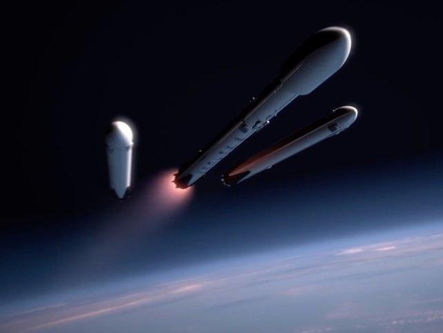 falcon heavy rocket booster