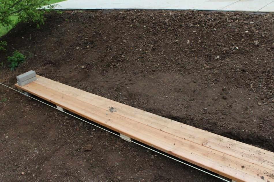 (c) Grashüpfer, Gemüsebeet - Weg gerade ausrichten