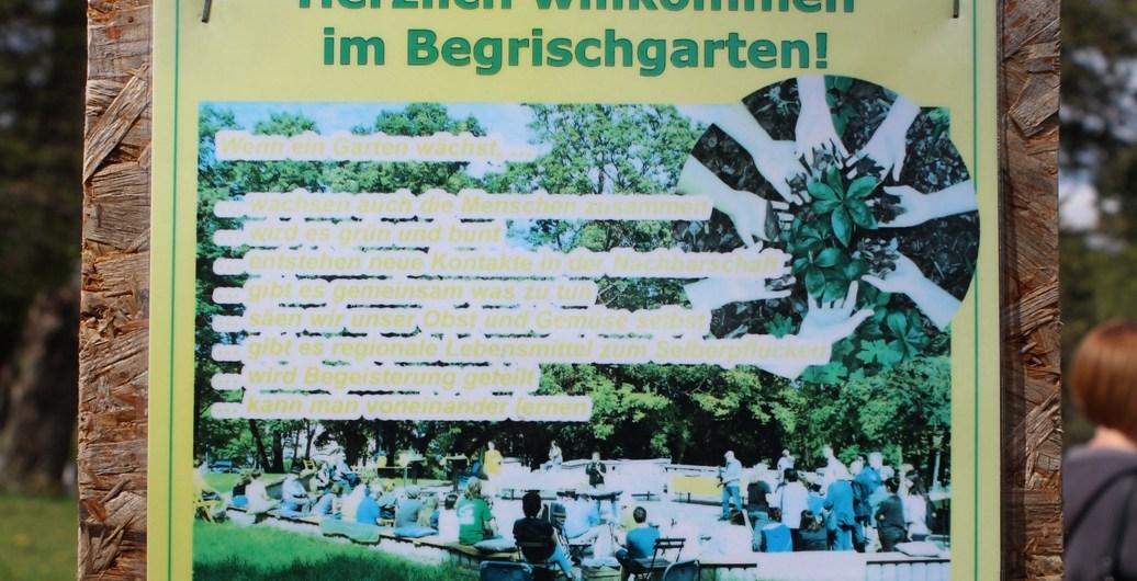 Plakat des Gemeinschaftsgartens Begrischgarten