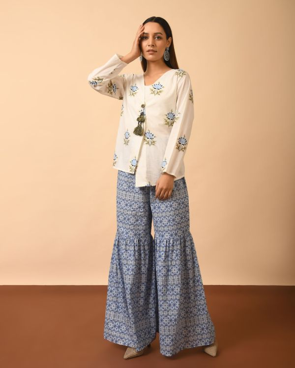 Hand Block Printed Top matched with beautiful Pants
