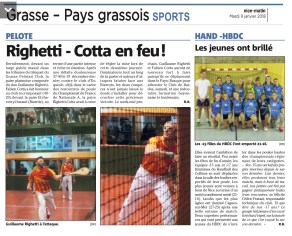 article Nice Matin 9 janvier