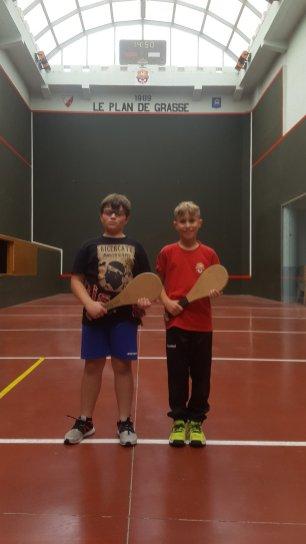Mini Poussin : Finale. Noah gagne le tournoi contre Tylian