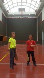 Mini Poussin : Quart de Finale Alexis contre Alexis Victoire d'Alexis à droite