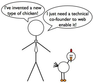 The Chicken Seller. How to find a co-founder