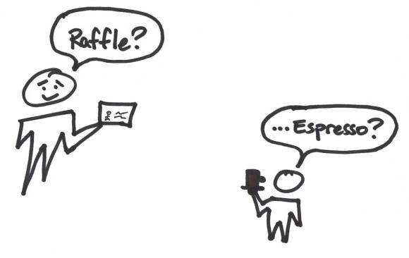 illustration - raffle for espresso