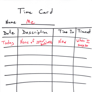 time card - just work less for work life balance