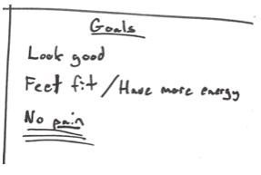 customer persona example - goals