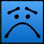 Sad Blue Square