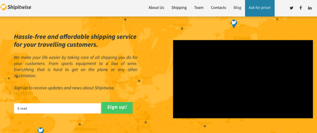 Lean Landing Page Travel Sector