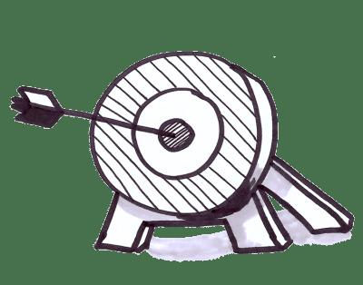target with arrow in bullseye