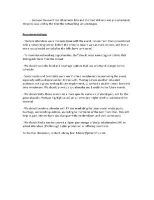 Tech chat AAR document part 2.