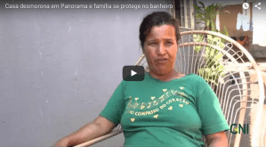 Casa Desmorona e Família se Protege no Banheiro / House collapses and family is protected in the bathroom