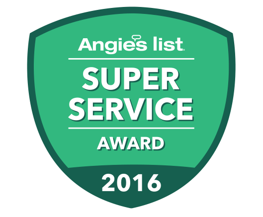 Angie's List, Super Service Award 2016 Recipient