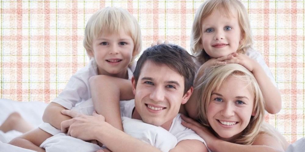 красивая семья