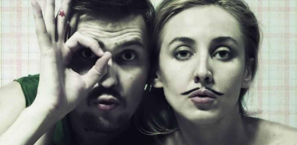 мужчина и женщина весёлое фото