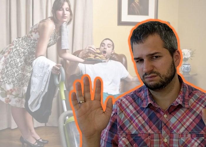 покладистая жена - муж-деградант