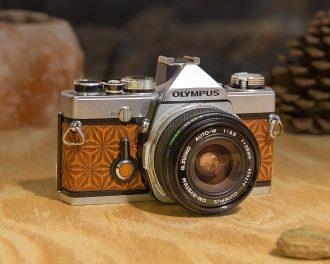 Olympus OM-1 Wood Film Camera