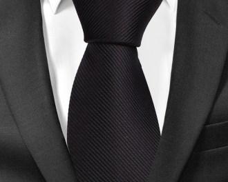 Solid Black Silk Tie