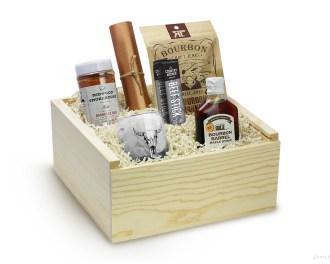 BBQ Gift Set Barbecue Gift Set Bourbon Gift Set Gift Box Whiskey Gift Set Whiskey Gift Box Basket Rocks Glass