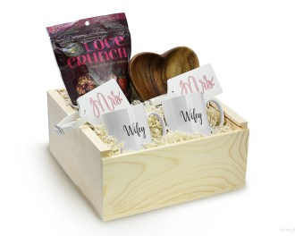 Queer Newlywed Gift Box Set Lesbian Coffee Mug Mrs Wifey Engagement Gift Gay Couple Gifts