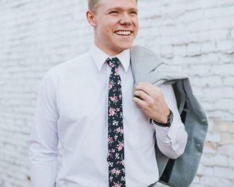 navy blue floral tie skinny tie
