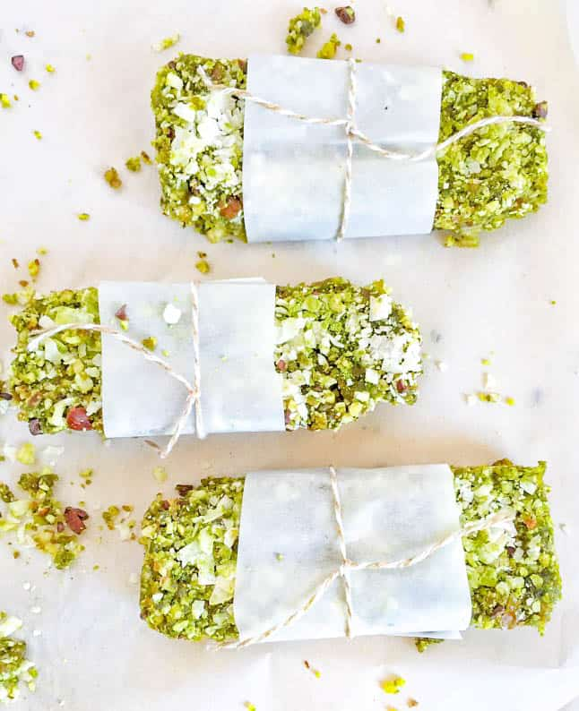 Coconut Matcha Energy Bars