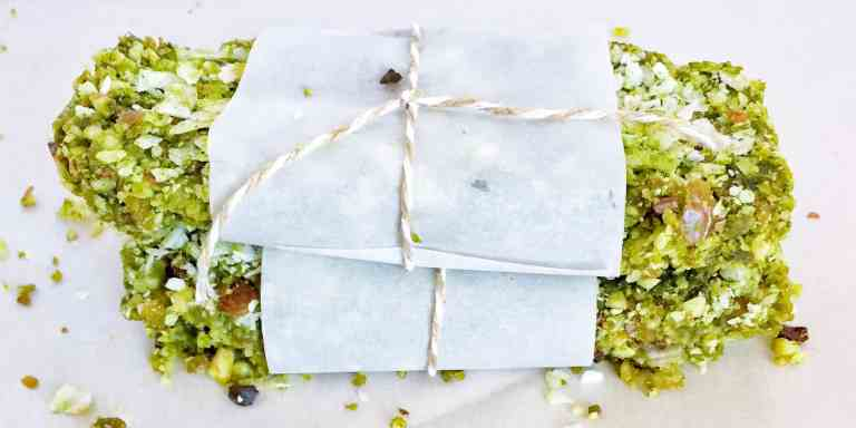 Coconut Matcha Energy Bars | Energy Bar Recipes For A Healthy Afternoon Pick Me Up
