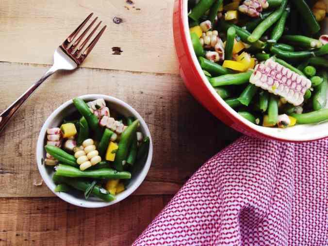 Green Bean and Corn Salad via The Cutting Board | Summer Produce Guide | The Grateful Grazer