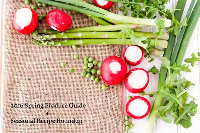 2016 Spring Produce Guide and Seasonal Recipe Roundup from The Grateful Grazer.