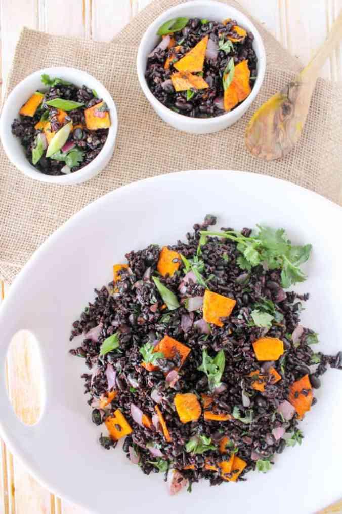 Mango Forbidden Rice and Beans (vegan, gluten free)Mango Forbidden Rice and Beans (vegan, gluten free)