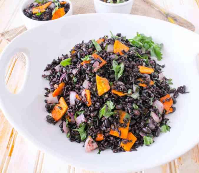 Mango Forbidden Rice and Beans (vegan, gluten free)