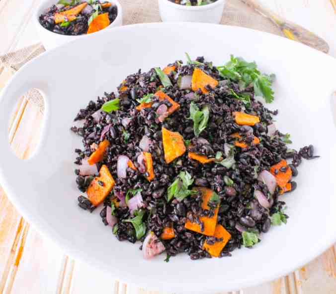 Mango Forbidden Rice and Beans (vegan, gluten free)