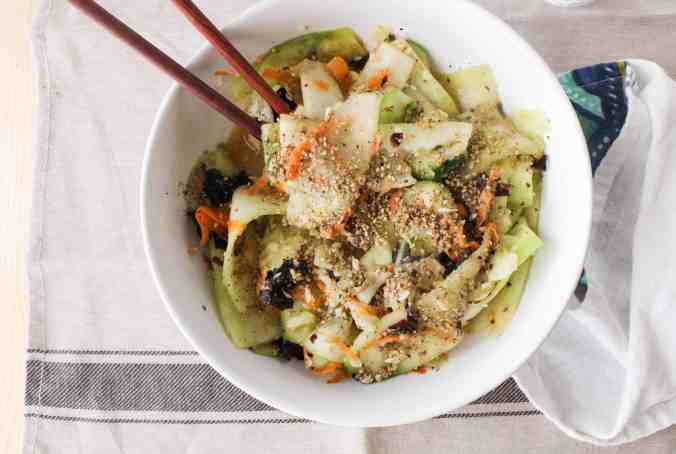 Seaweed Gomasio Cucumber Salad by The Grateful Grazer