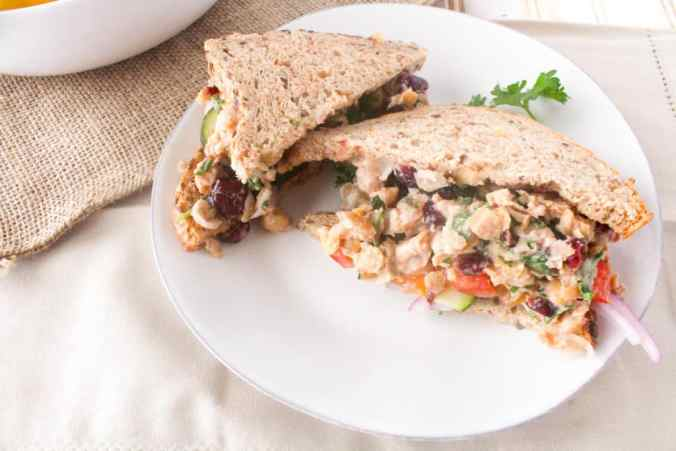 Summer picnic? Try these Vegan Cranberry Chickpea Salad Sandwiches from The Grateful Grazer.
