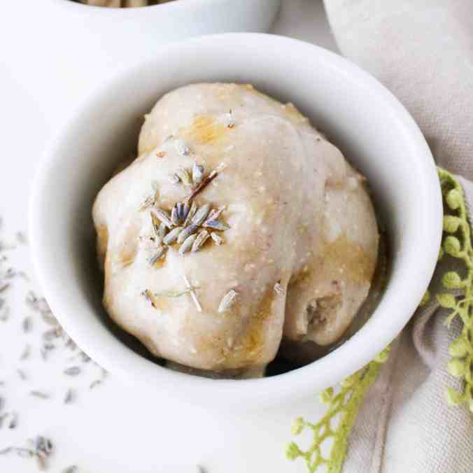 Relaxing Lavender Oat Banana Ice Cream to promote better sleep from The Grateful Grazer.