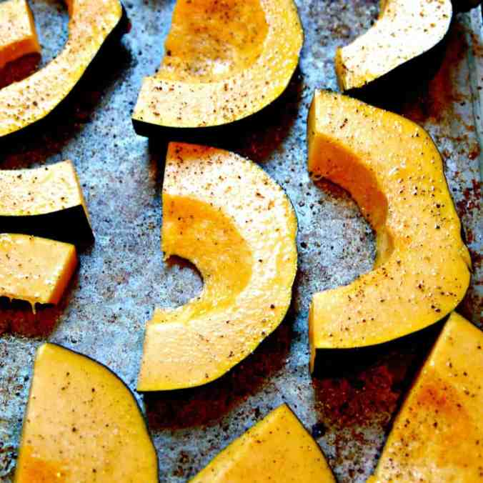 Autumn produce and the best healthy seasonal recipes for fall, including this Roasted Acorn Squash!