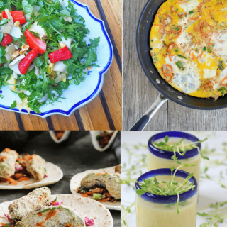 What's in-season during spring? Get the details and links to the most delicious plant-based spring recipes featuring seasonal fruits and vegetables.