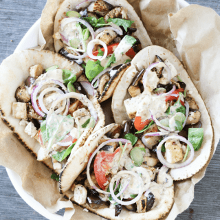 Simple, satisfying, and delicious Charred Eggplant Pita Wraps for summer! These vegetarian sandwiches are about to become your new favorite easy recipe!