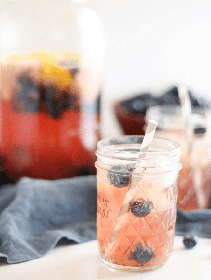 Sparkling Blueberry Hibiscus Iced Tea