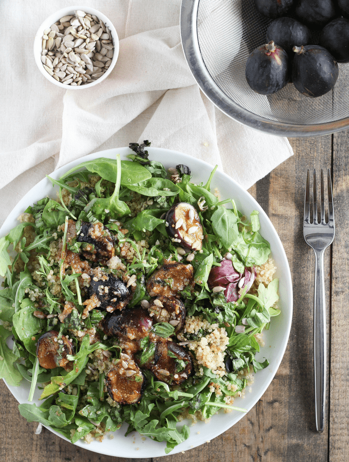 Grilled Fig Quinoa Salad