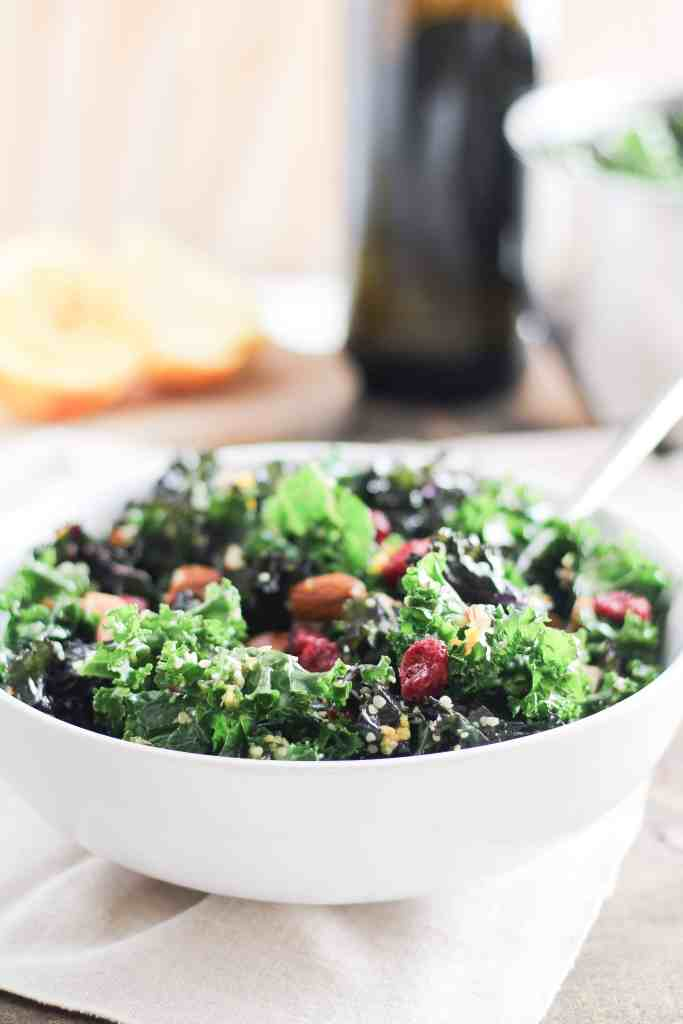 This make-ahead kale salad stands up to storage in the fridge, and it's an easy way to get started with meal prep. Keep this winter salad on hand for quick, weekday lunches or as a refreshing side dish for your holiday table.
